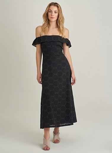 NGSTYLE Carmen Yaka Elbise Siyah